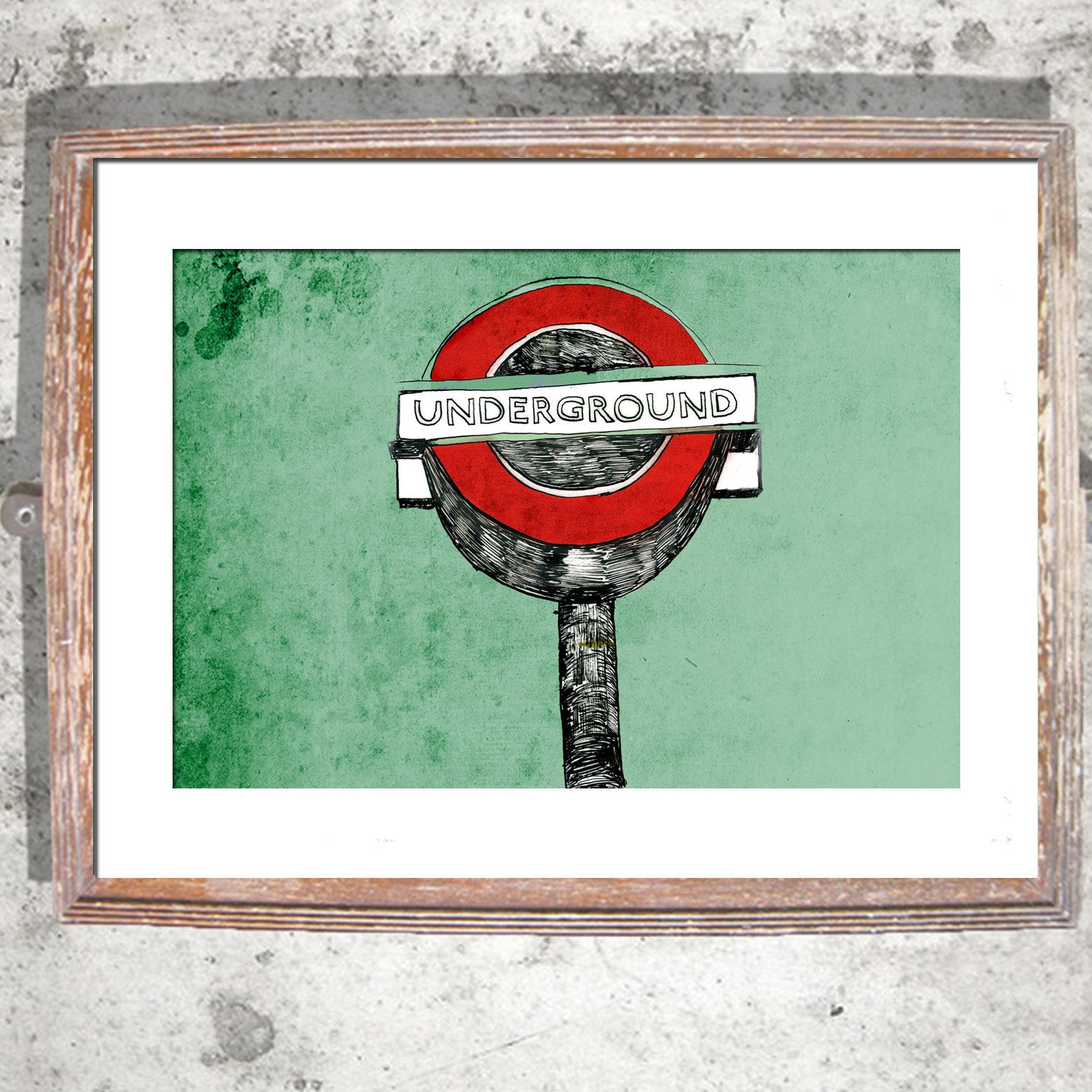 "Signed Print / ""The London Underground"""