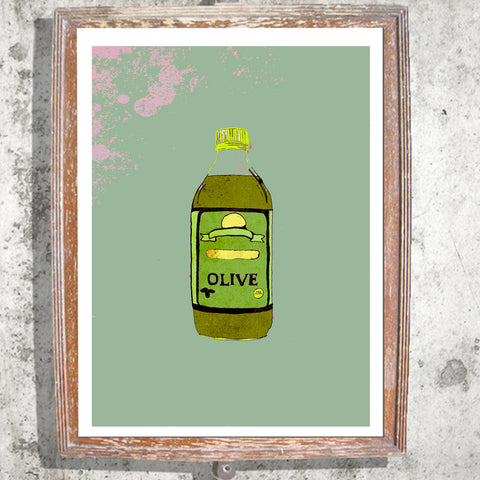 "Signed Print / ""The Olive Oil"""
