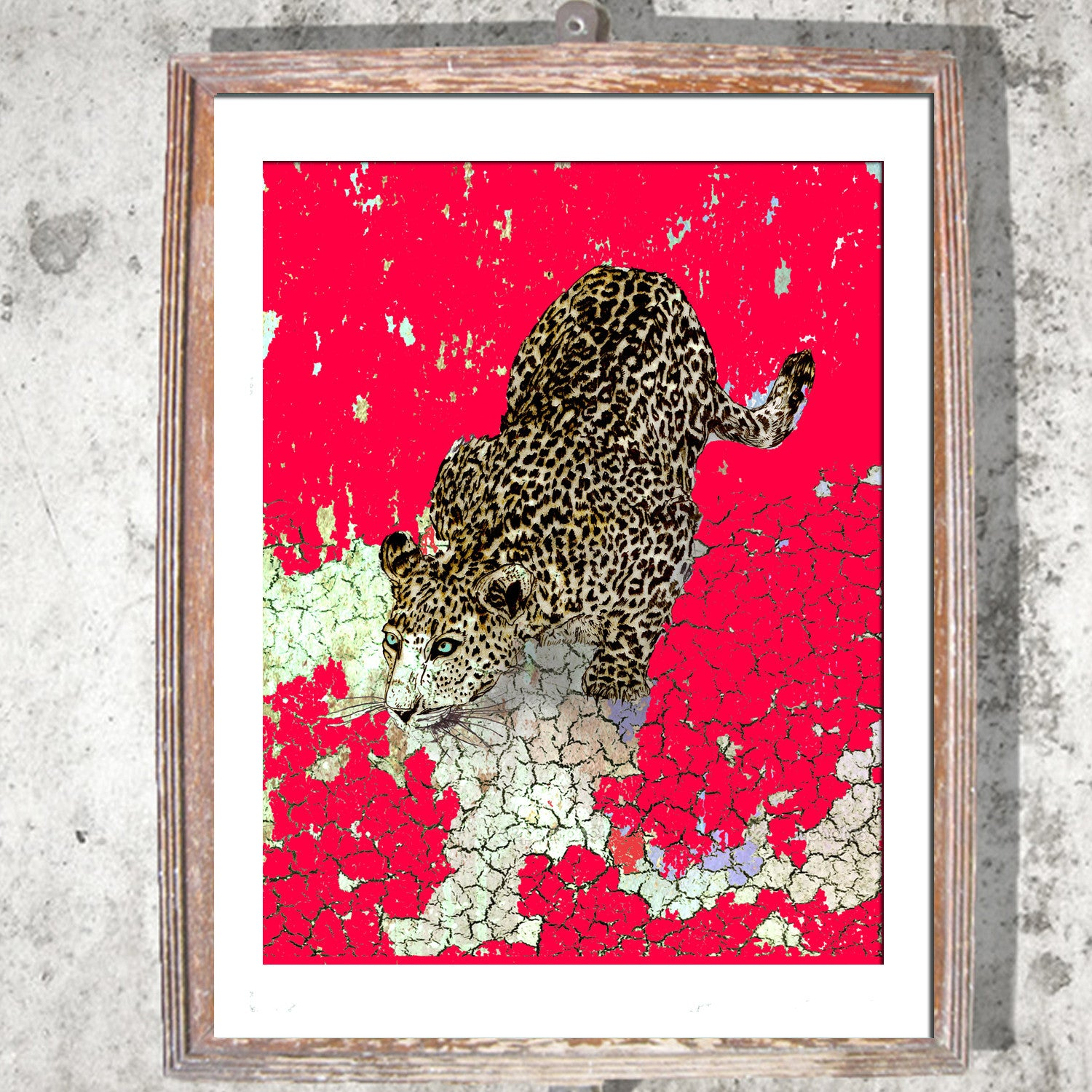 "Signed Print / ""The Pouncing Leopard"""