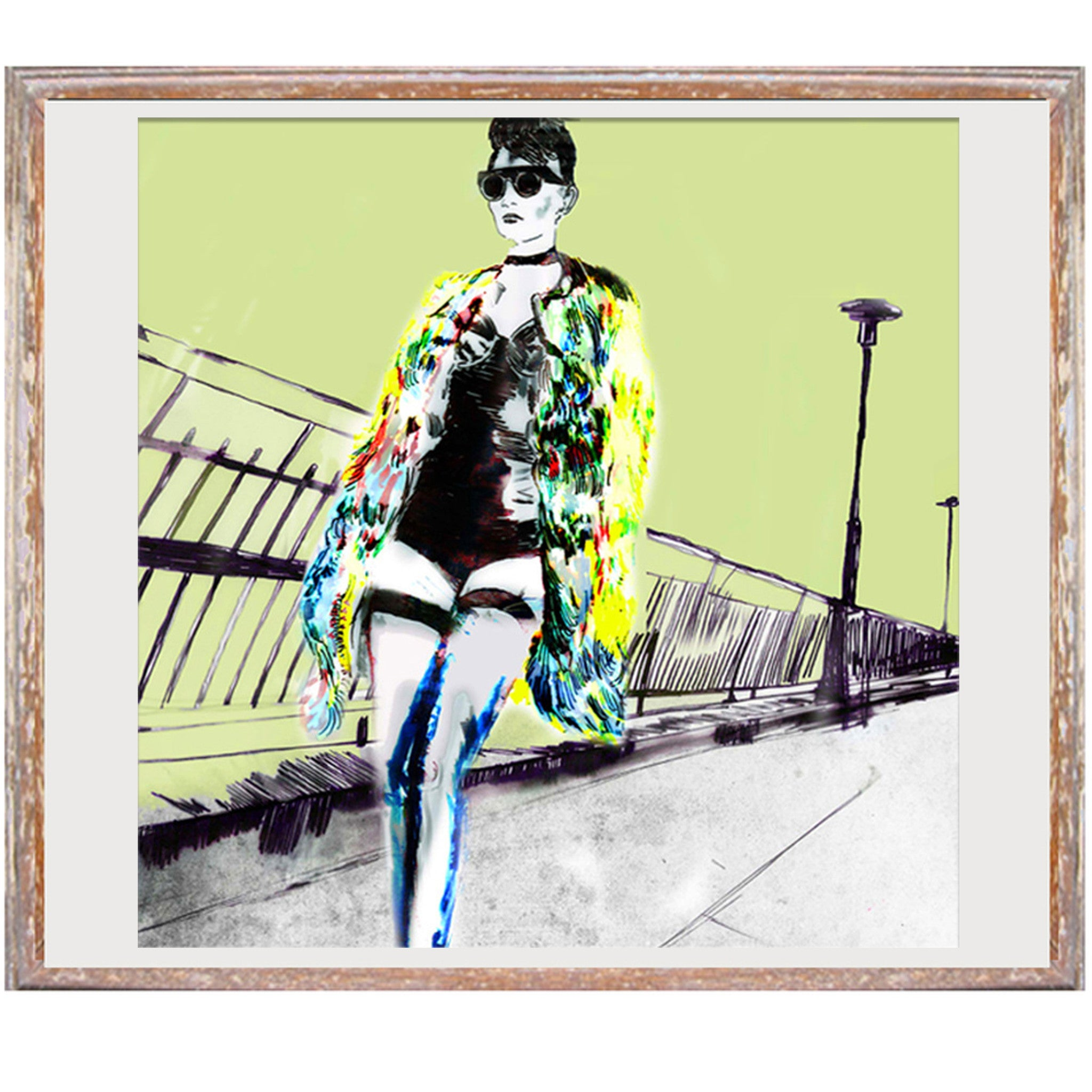 "Signed Print / ""The Prostitute on the Promenade"""