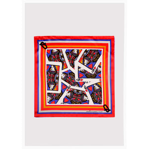 "Alphabet Silk Neckscarf / ""Q for Queen"""