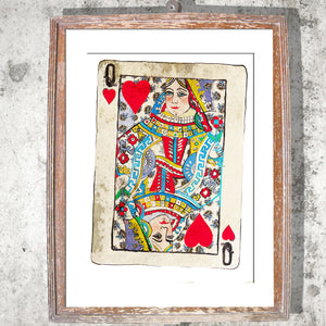 "Signed Print / ""The Queen of Hearts"""