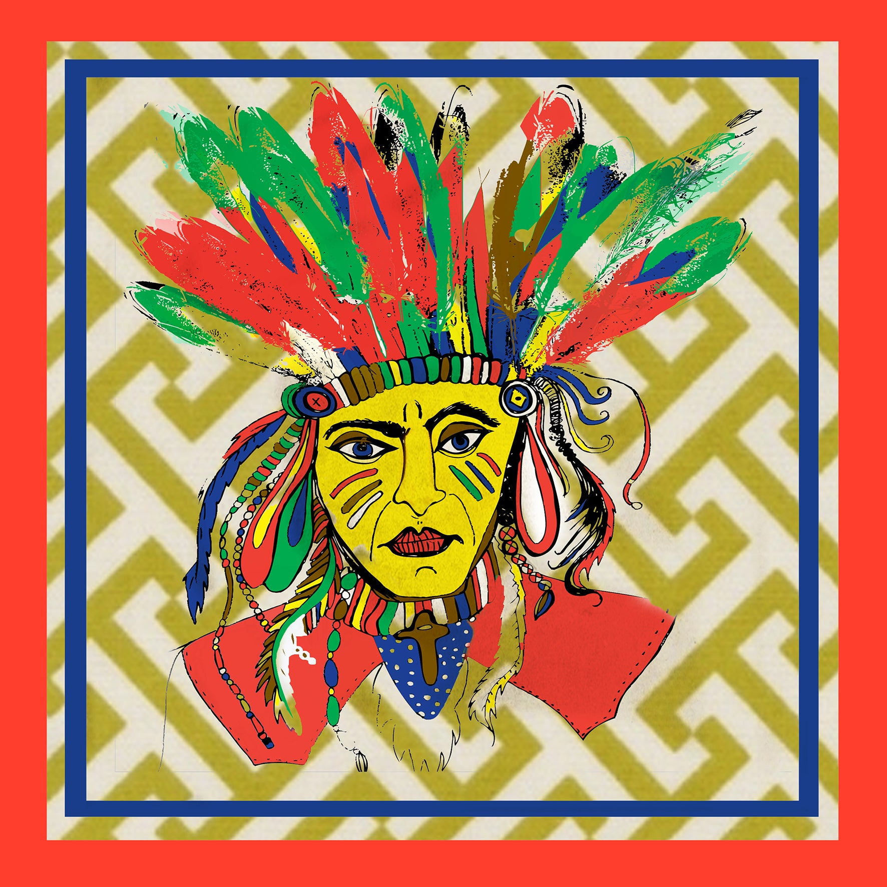 "Design Print / ""Red Indian"""