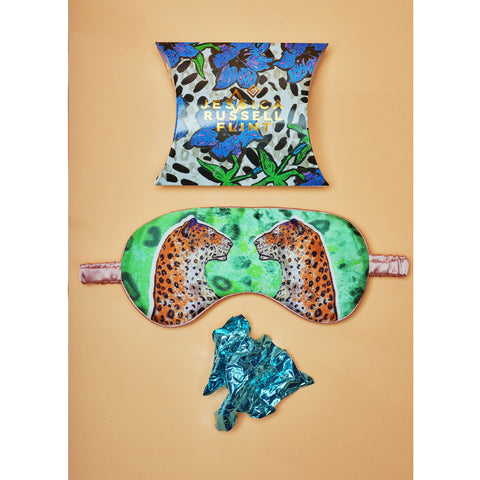 Silk Eye Mask / ''Staring Leopards''