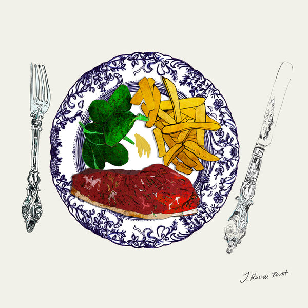 "Signed Print /""The Steak Plate"""