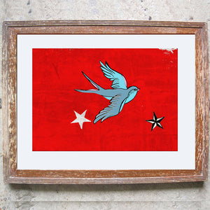 "Signed Print / ""Swallows & Stars"""