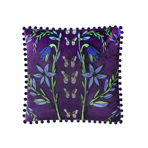 Velvet Cushion Cover / ''Folk Butterfly""
