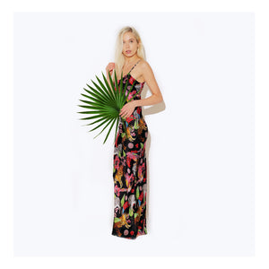 Maxi Silk Slip Dress / ''Tiger Tales''