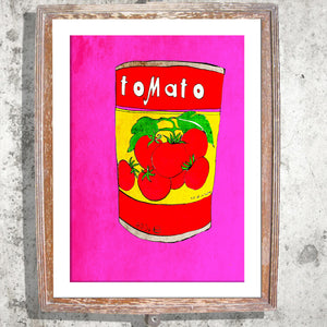 "Signed Print / ""A Tin of Tomatoes"""