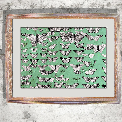 "Signed Print / ""The Vintage Butterflies"""