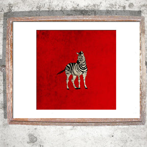 "Limited Edition Print / ""The Lonely Zebra"""