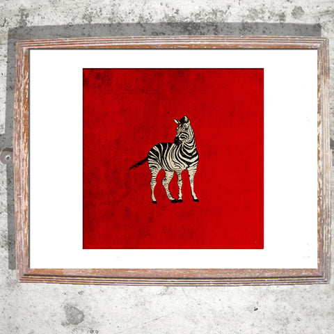 "Signed Print / ""The Lonely Zebra"""
