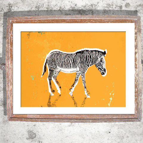 "Signed Print / ""The Pondering Zebra"""