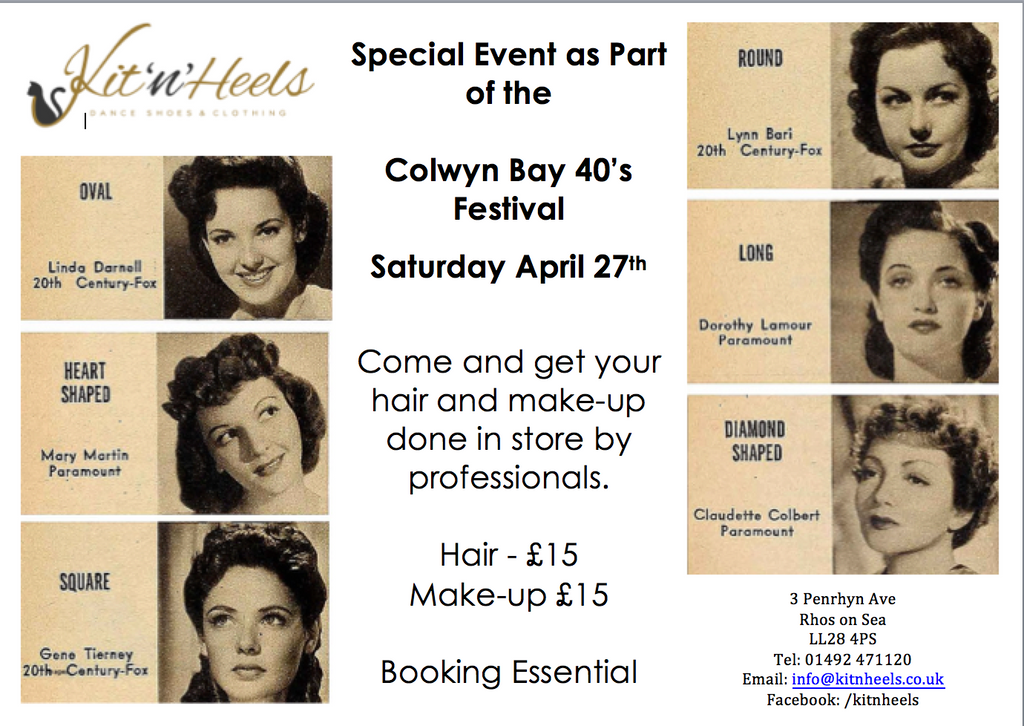 1940's Hair and Make-up Event in store