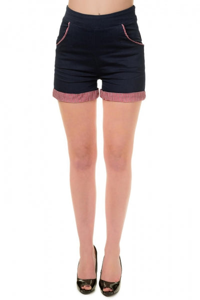 Banned Apparel - Blueberry Hill Rockabilly Shorts