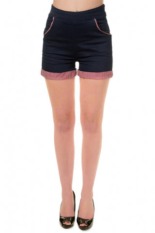 Banned Apparel - Blueberry Hill Rockabilly Shorts - Kit'n'Heels
