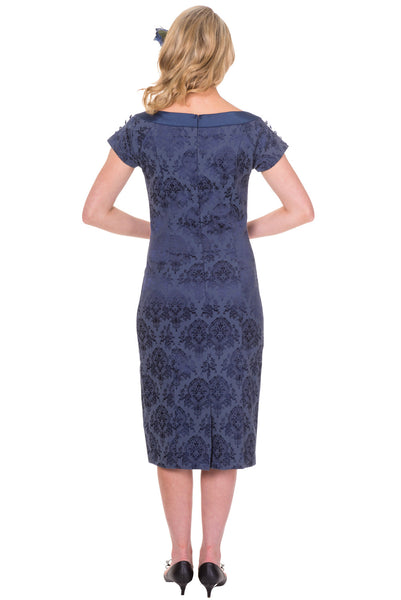 Banned Apparel Limitless Boat Neck Cocktail Dress in Navy