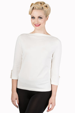 Banned Apparel Addicted Sweater in White - Kit'n'Heels