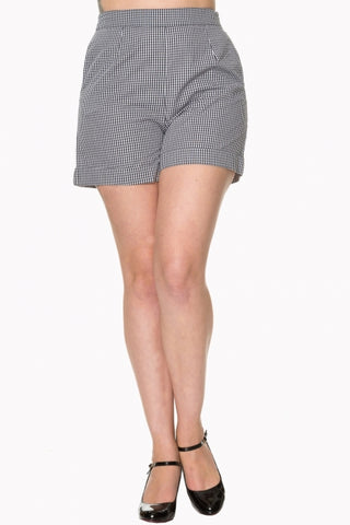 Banned Apparel - Easy Street Black and White Gingham Shorts - Kit'n'Heels