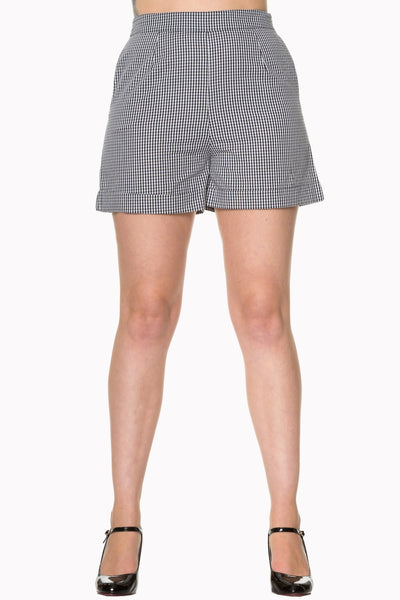 Banned Apparel - Easy Street Black and White Gingham Shorts