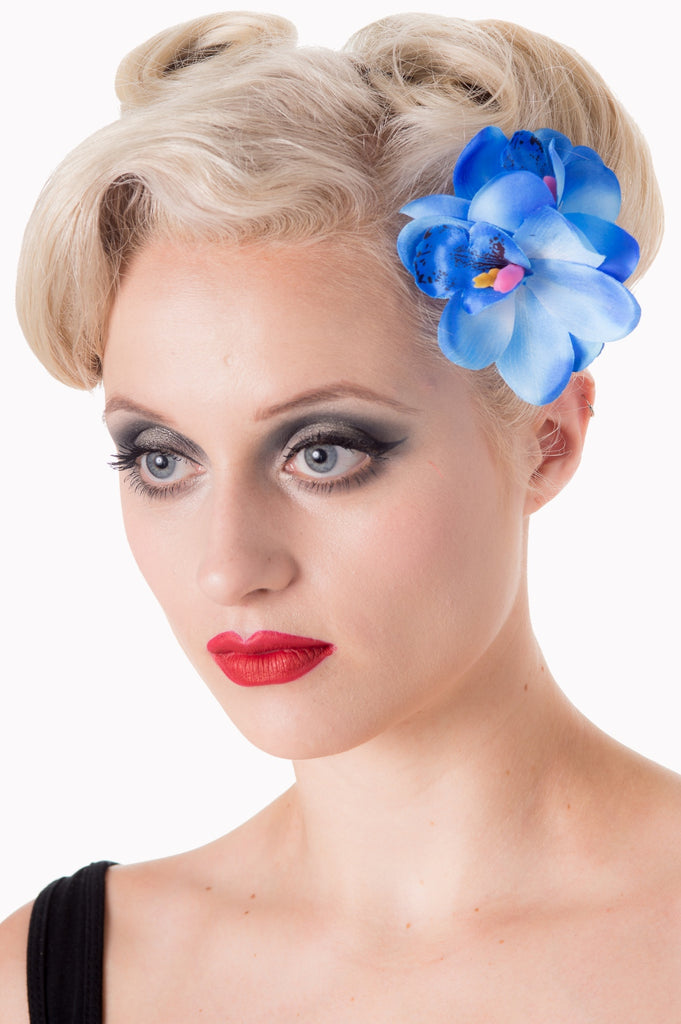 Blossom Hair Clip in Blue - Kit'n'Heels
