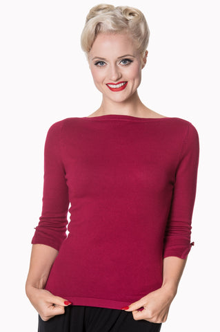 Addicted - Lightweight Sweater in Plum