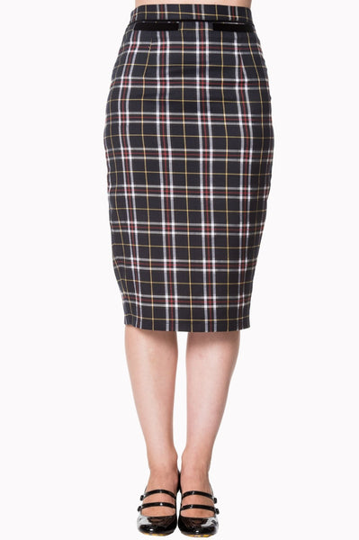 Banned Apparel Bliss Skirt in Black Tartan - Kit'n'Heels