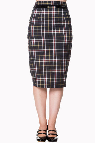 Banned Apparel Bliss Skirt in Black Tartan