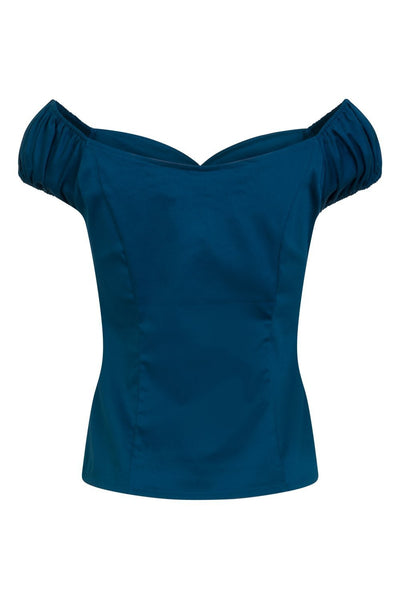 Banned Apparel Winnie - Navy Rockabilly Top