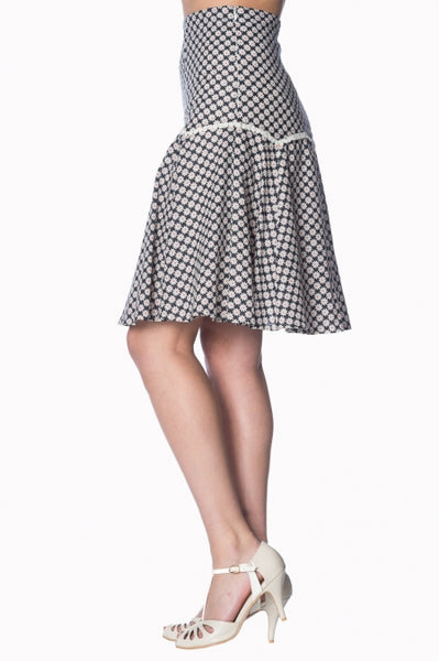 Banned Apparel Ditsy Daisy A-Line Skirt - Kit'n'Heels