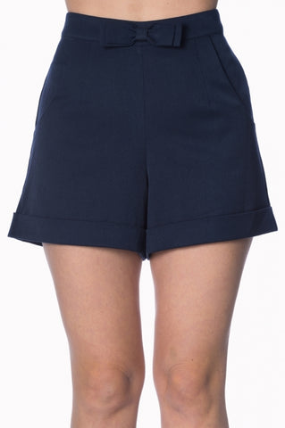 Banned Apparel Betsy Navy Shorts