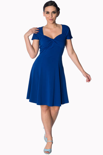 Banned Apparel It's the Twist Royal Blue Cocktail Dress - Kit'n'Heels