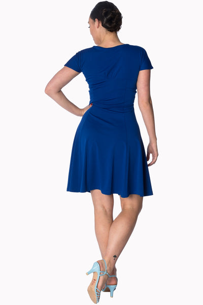 Banned Apparel It's the Twist Royal Blue Cocktail Dress