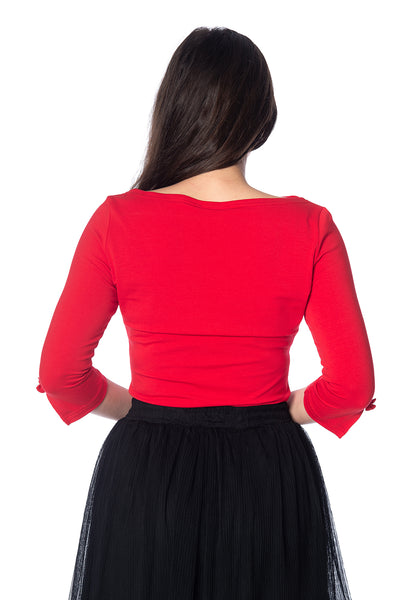 Oonagh Basic Top in Red