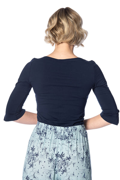 Oonagh Basic Top in Navy