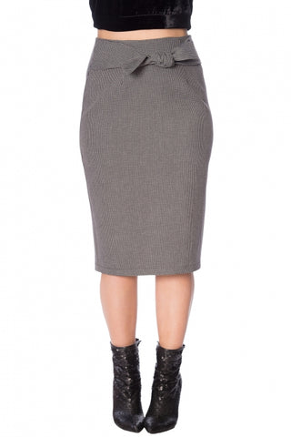 Betty Tie Front Pencil Skirt