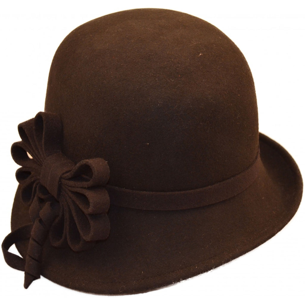 Women's Wool Felt Vintage Hat. Black