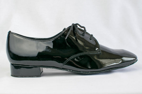 Sam - Black patent leather man's ballroom shoe - Kit'n'Heels