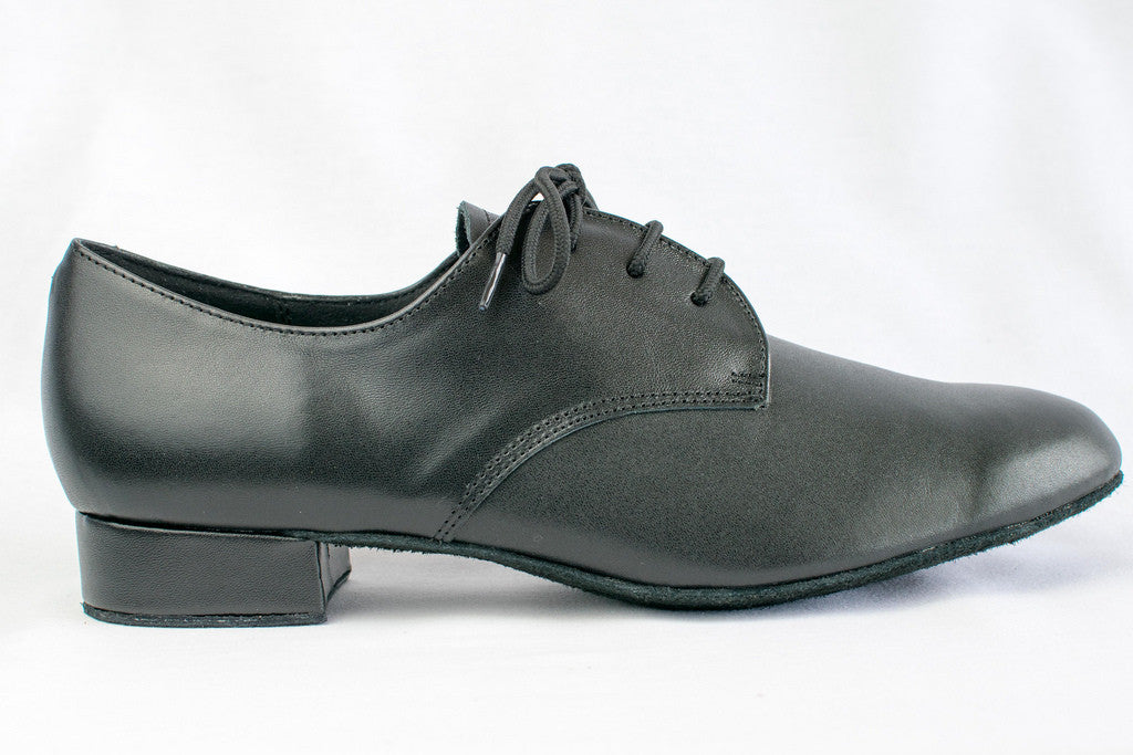 Mark - Man's Black Leather Ballroom Dance Shoes