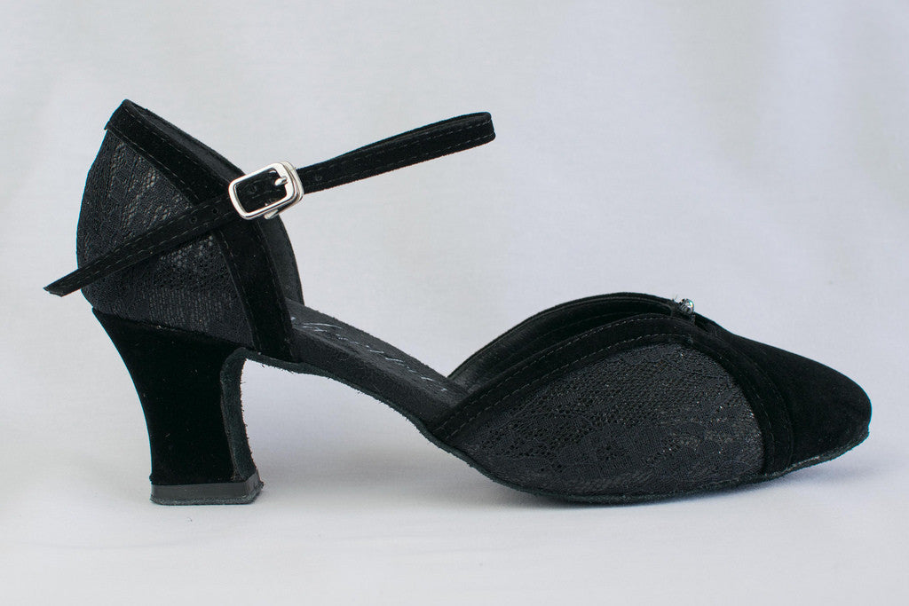 9a544cac5 Alice - Black, wide fitting, ladies' ballroom dance shoes - Kit'n
