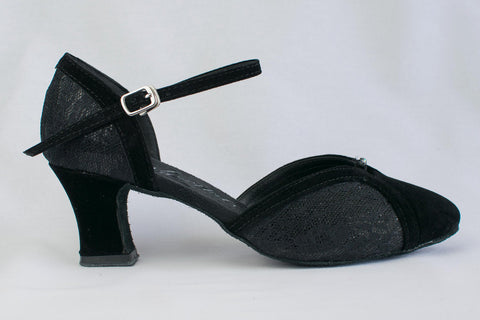 Alice - Black, wide fitting, ladies' ballroom dance shoes