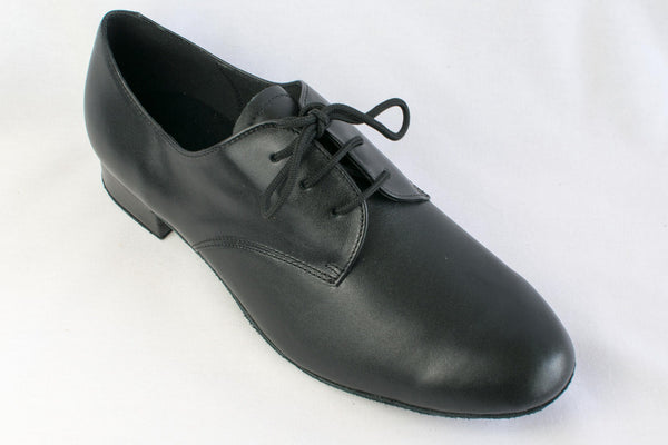 Mark - Man's Black Leather Ballroom Dance Shoes - Kit'n'Heels