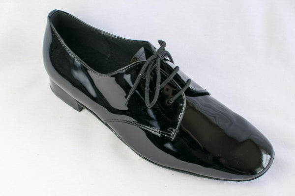 Sam - Black patent leather man's ballroom shoe