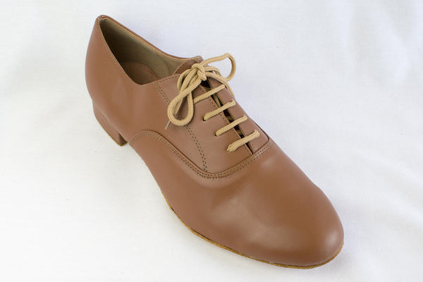 Geoff - Man's brown ballroom dance shoe - Kit'n'Heels