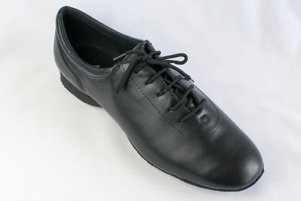 Jacob - Man's and ladies' Black leather dance trainer