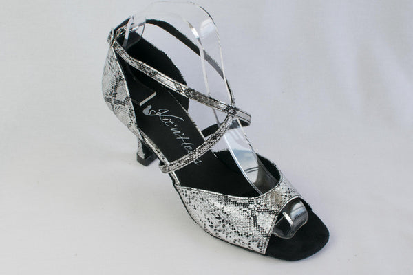 Sarah - Ladies' Silver Latin Dance Shoes
