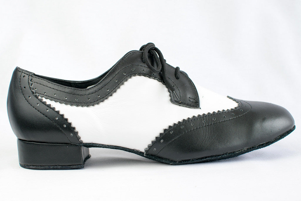 Pasquale - Man's Black and White Ballroom Dance Shoes