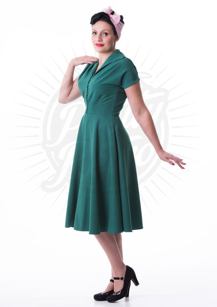 Hostess Dress in Emerald
