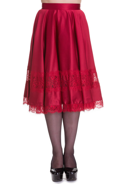 Diana - Vintage 50's Style Full Circle Skirt - Red - Hell Bunny