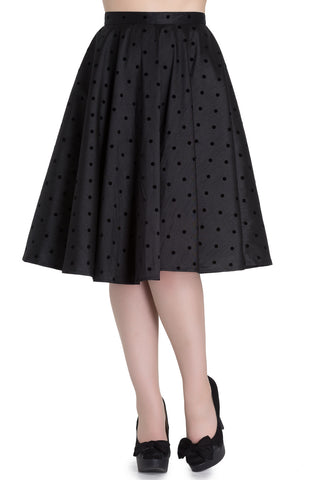 Tara - Vintage Style 50's Full Circle Skirt - Black - Hell Bunny